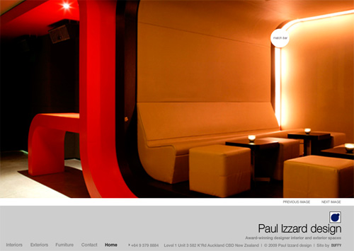 Flash Web Site Design by Duffy - Paul Izzard Design, Auckland
