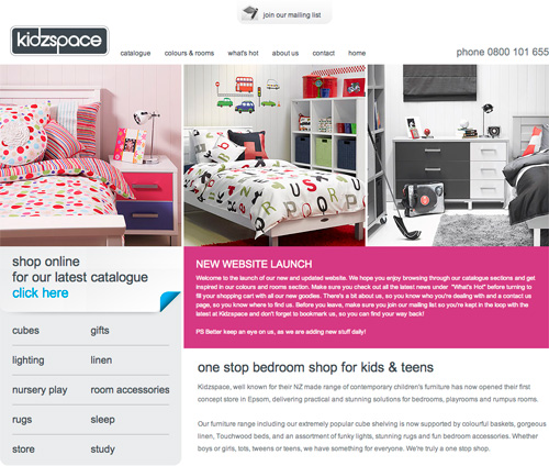 Duffy - Web Site Designer Kidzspace Furniture Web Site