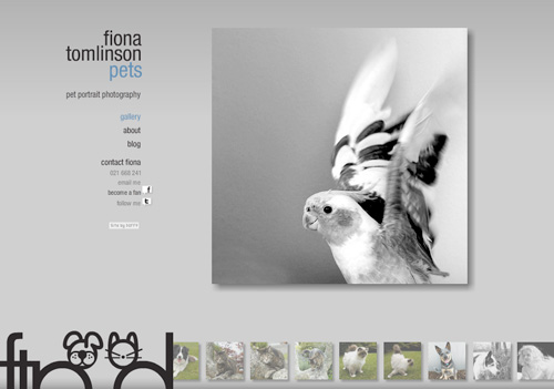 Photography Website Design Fiona Tomlinson FTPets.co.nz