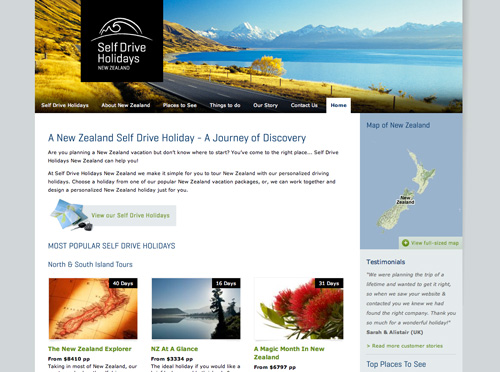 custom-website-design-self-drive-holidays-new-zealand
