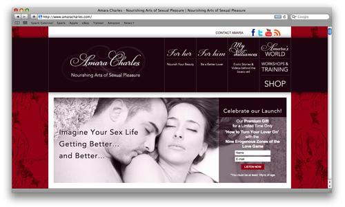 Amara Charles Website Design