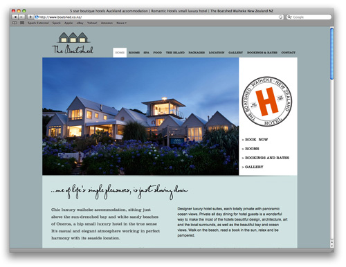 Hotel Website Design - The Boatshed Waiheke Auckland