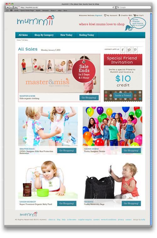 Design for magento commerce website mummii co nz