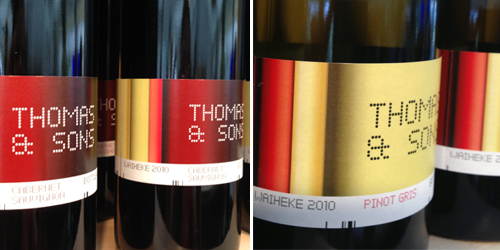 Batch Winery Waiheke - Wine label Duffy Design Thomas and Sons