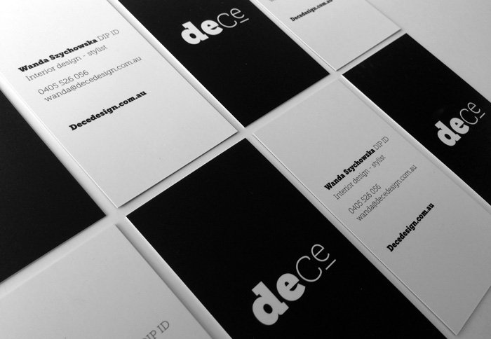 DeCe Business Card Design Duffy Design
