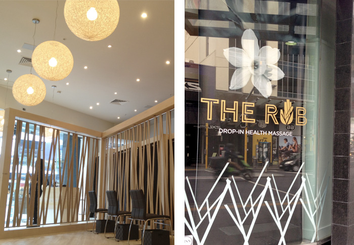 Retail Graphics - The Rub Newmarket Auckland