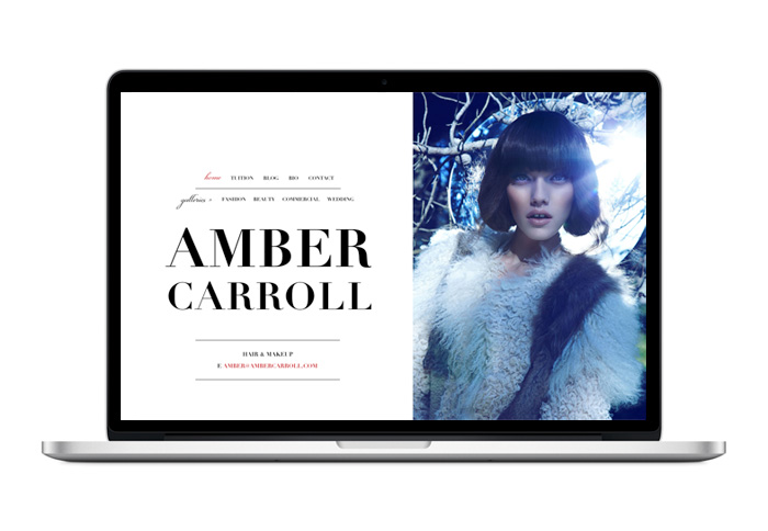 Amber Carroll Website Design Duffy Design