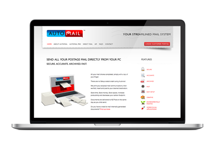 Automail Web Site Design Duffy Design