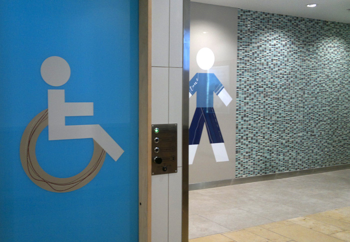 Bayfair Shopping Centre Disabled Wayfinding Graphics Duffy Design