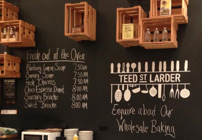 Cafe Brand Identity Teed St Larder