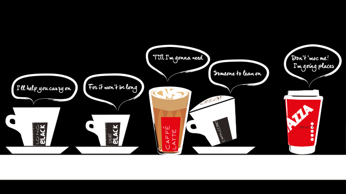 Cafe Interior Graphics - Talking Coffee Cups