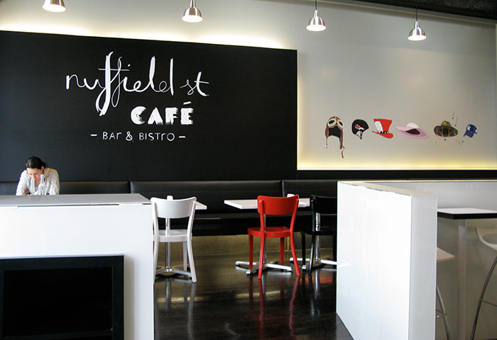 Cafe Interior Graphics Nuffield St Newmarket