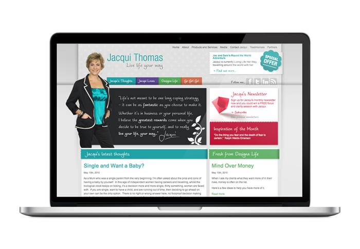 Jacqui Thomas Custom WordPress Website Design