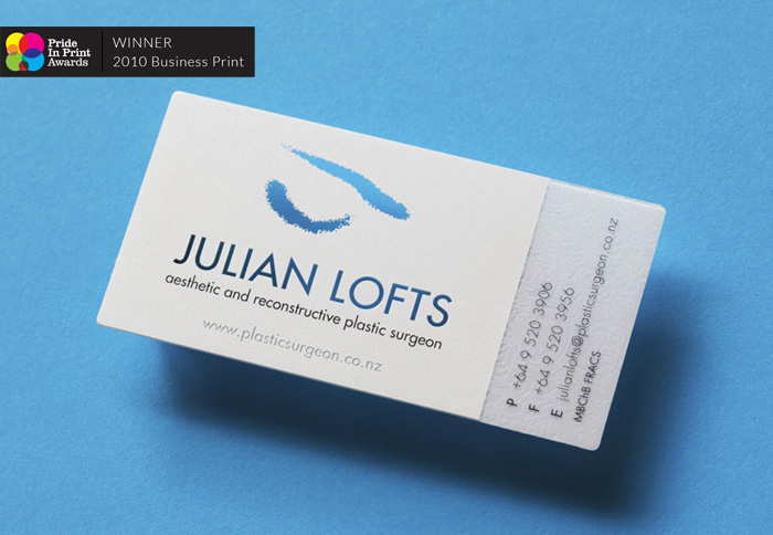Julian Lofts Business Cards Pride In Print Awards Best Business Print Duffy Design