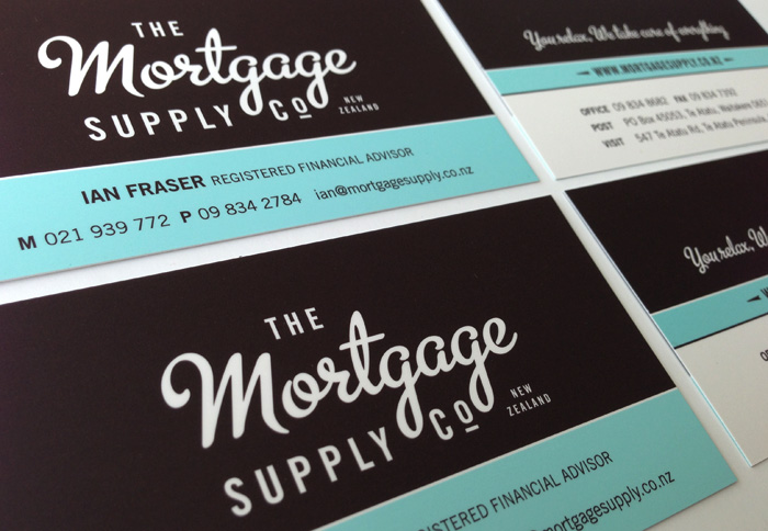 The Mortgage Supply Co Business Cards Closeup Duffy Design