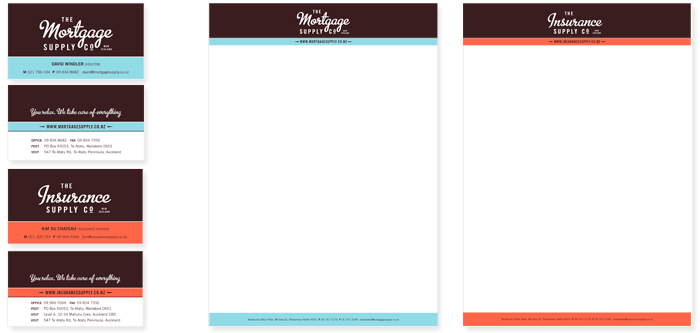 The Morgage Supply Co Stationery Design Duffy Design