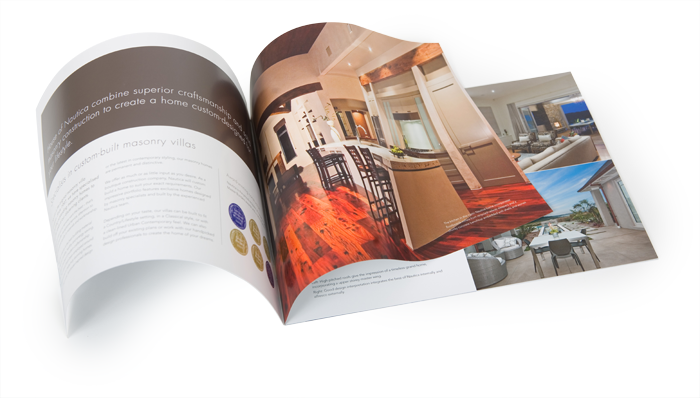 Logo Redesign Brochure Spread Nautica Homes