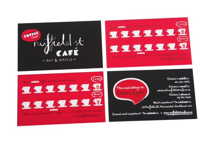 cafe coffee card design