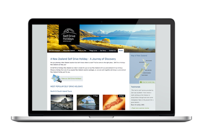 Web Strategy and Design Self Drive Holidays New Zealand
