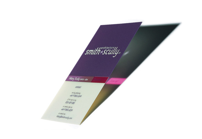Architecture Smith + Scully Plastic Business Cards