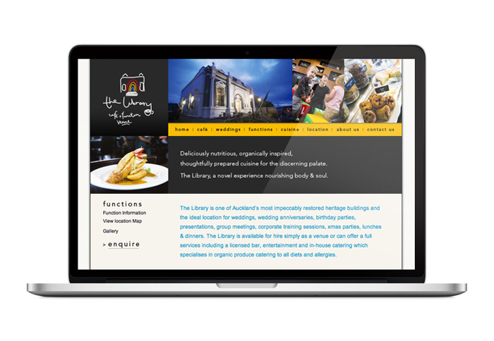 The Library Cafe Website Design Duffy Design Auckland