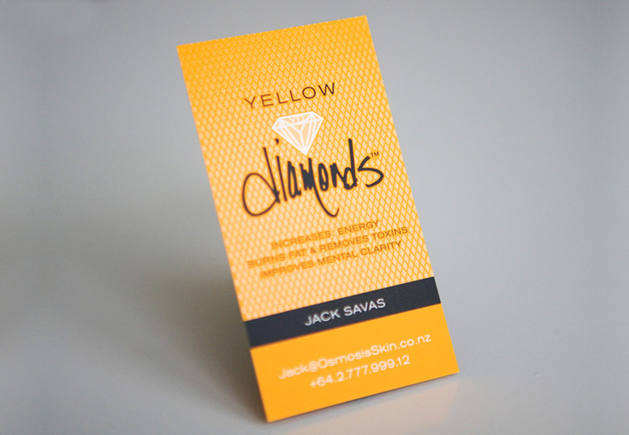 Yellow Diamonds Business Card Design