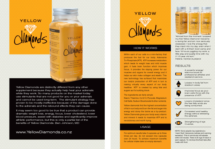 Yellow Diamonds Flyer Design Duffy Design