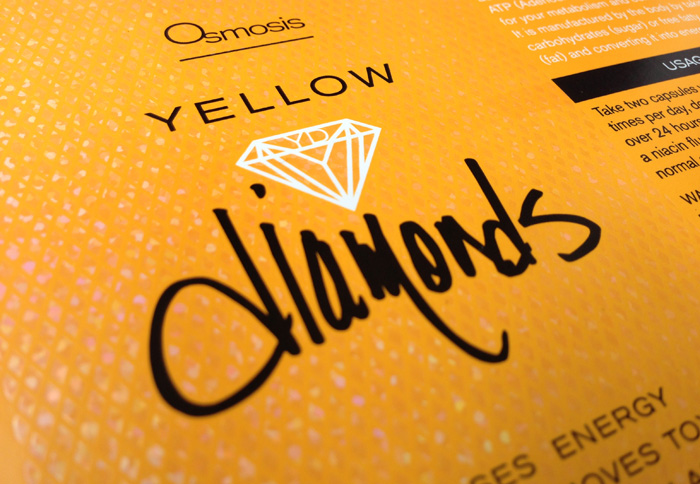 Yellow Diamonds Label Closeup Duffy Design