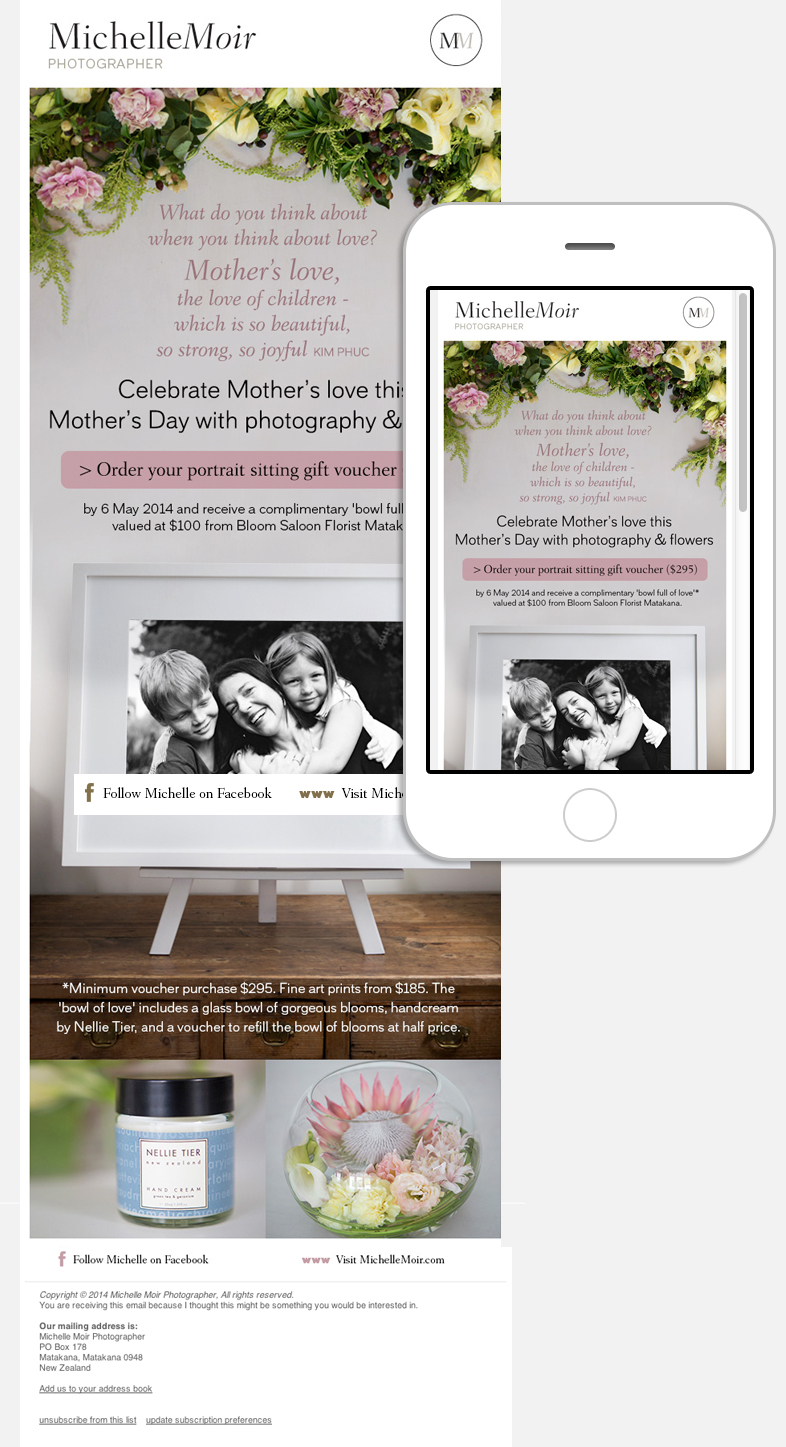 Mothers Day Email Newsletter Design