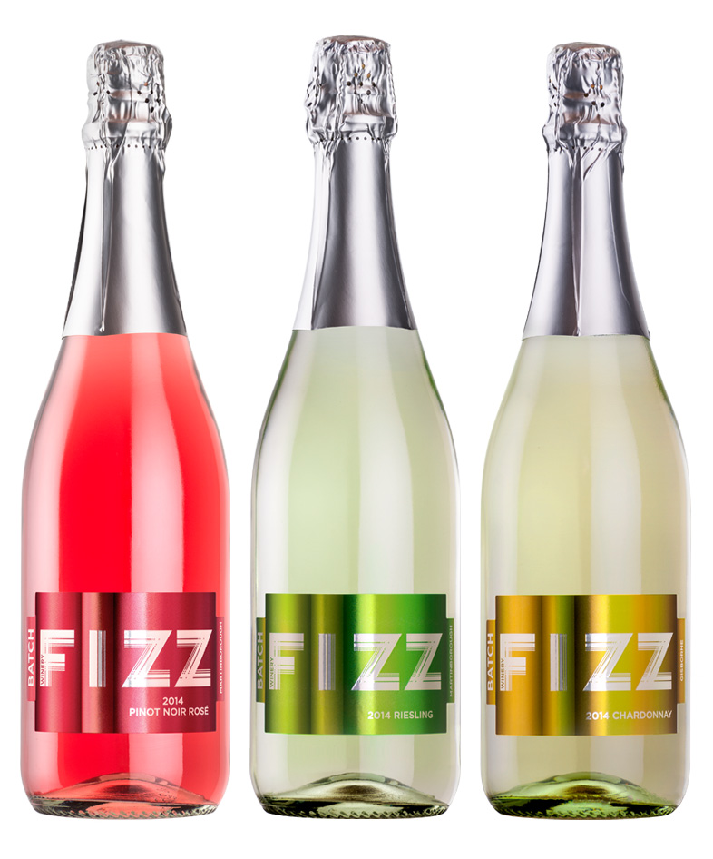 Sparkling Wine Label Design FIZZ Wines