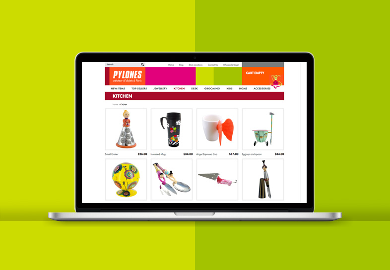 Gift Website Design Product Overview Page