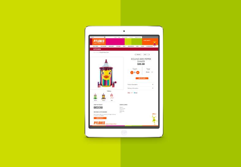 Gift Website Design Pylones